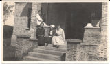 Missionary teachers sitting on the porch
