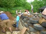 Earthship Construction at The...