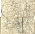 Annotated Map of Columbus, Ohio: Street Car Lines, Retail Stores